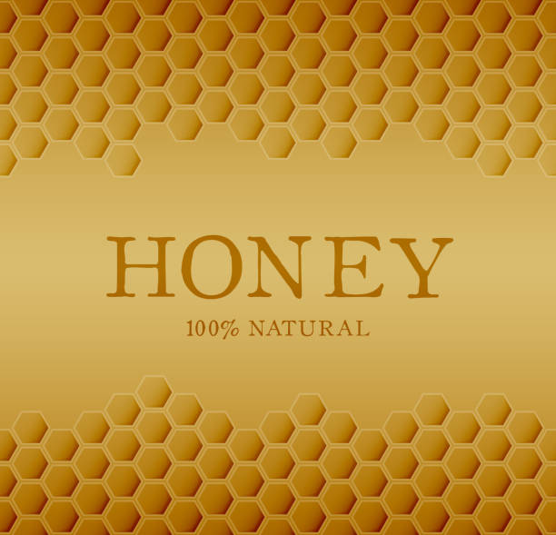 Honey template with yellow hexagonal realistic honeycomb seamless texture. Honey template with yellow hexagonal realistic honeycomb seamless texture. swarm of insects stock illustrations