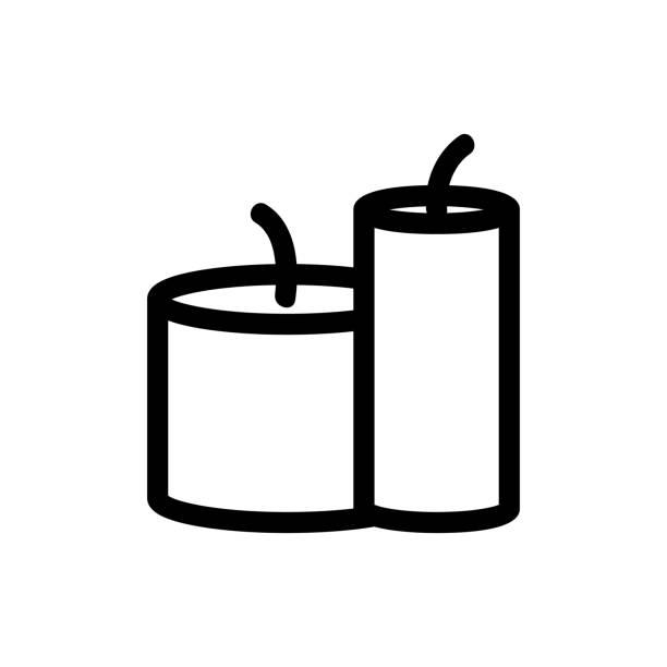 honig wachs kerze symbol vektor. abbildung des isolierten kontursymbols - bienenwachs stock-grafiken, -clipart, -cartoons und -symbole