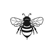 istock Honeybee abstract symbol in vector 1249758505