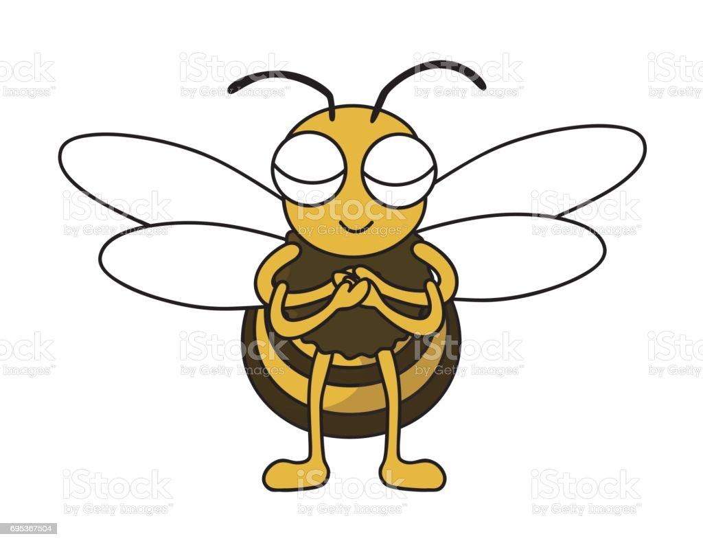 ミツバチは感銘を受けた ベクターアートイラスト