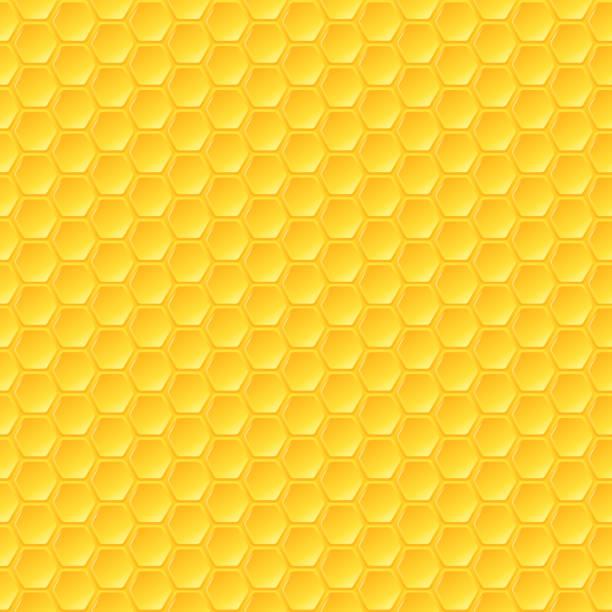 Waben-Hintergrund, nahtlose Sechsecke Muster, Vektor-illustration – Vektorgrafik