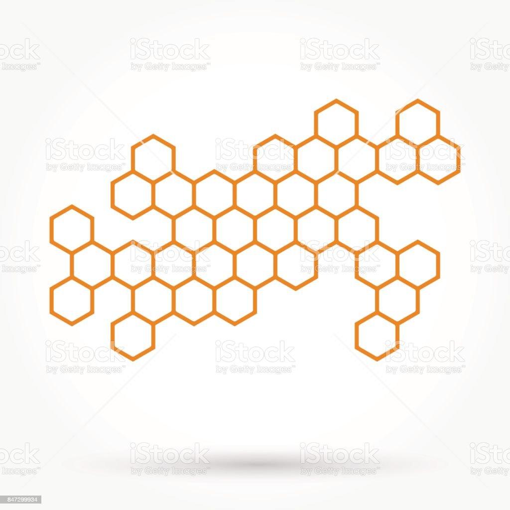 Honeycomb background texture vector art illustration