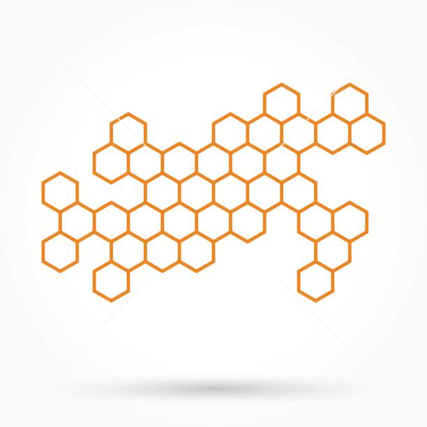 Honeycomb background texture Honeycomb background texture beehive stock illustrations