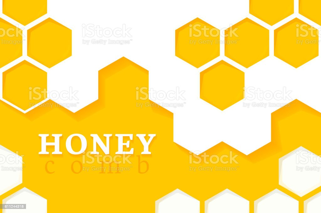 Honeycomb Background. Vector Illustration of Geometric Hexagons Background vector art illustration