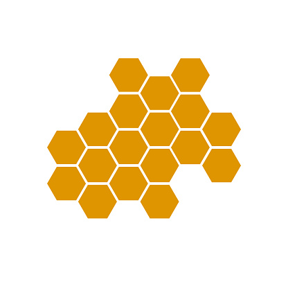 honeycomb bee icon on white background. honeycomb icon for your web site design, logo, app, UI. flat style. honey comb sign.