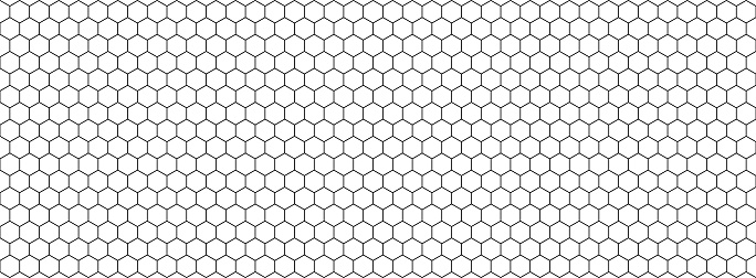 Honeycomb hexagon pattern. Vector isolated texture. Comb texture design. Vector hexagonal cell texture.