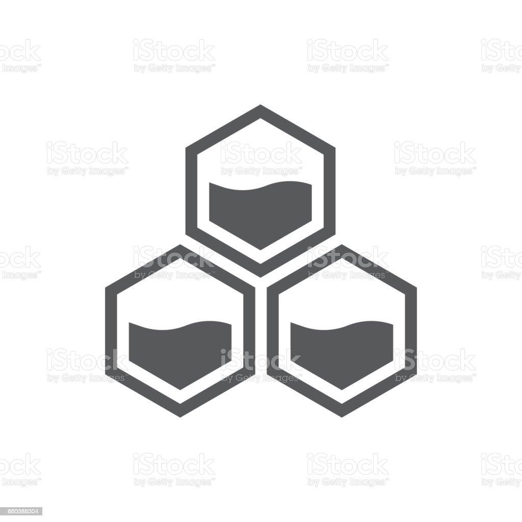 vecteur d'icône en nid d'abeille - Illustration vectorielle
