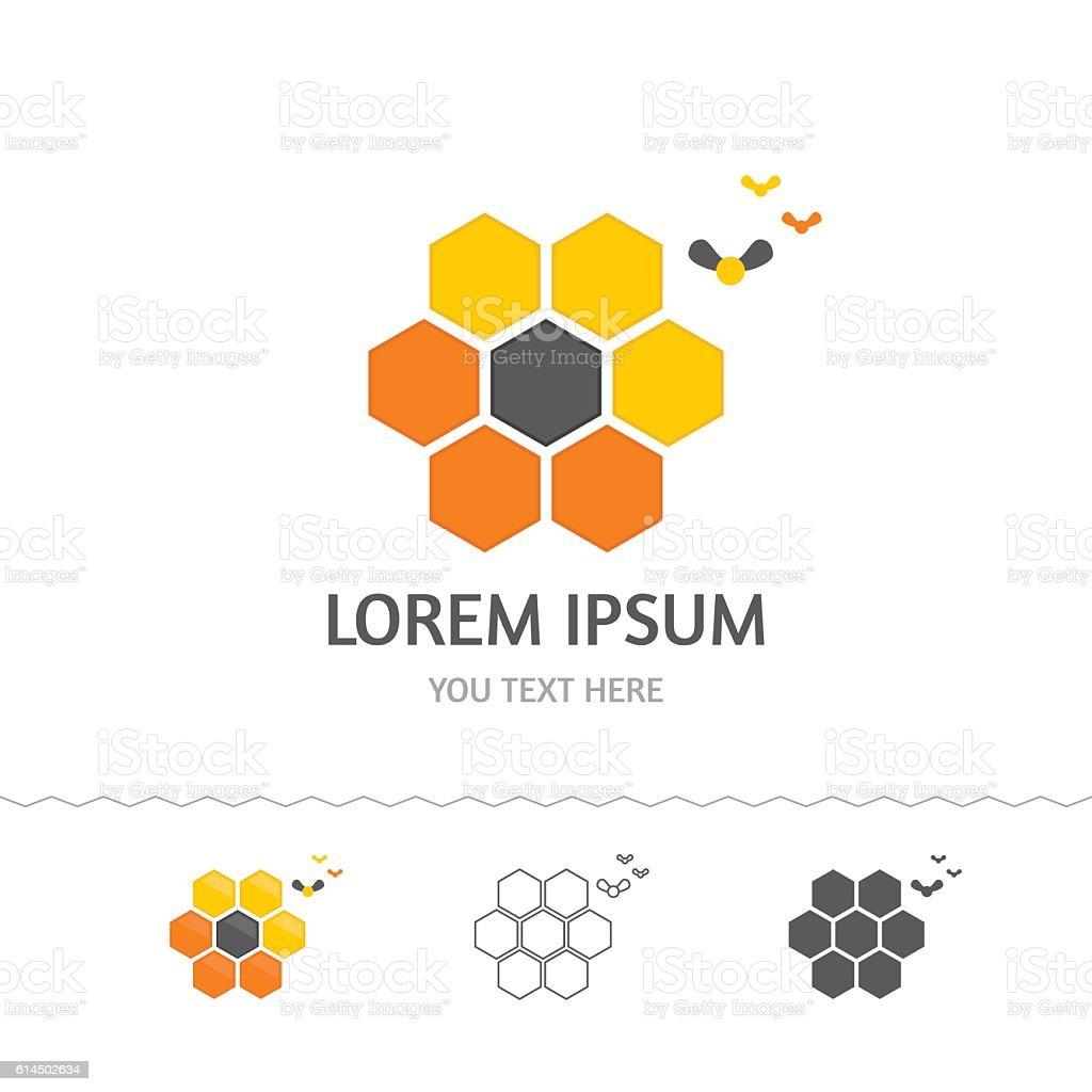 Honeycomb logo vector art illustration