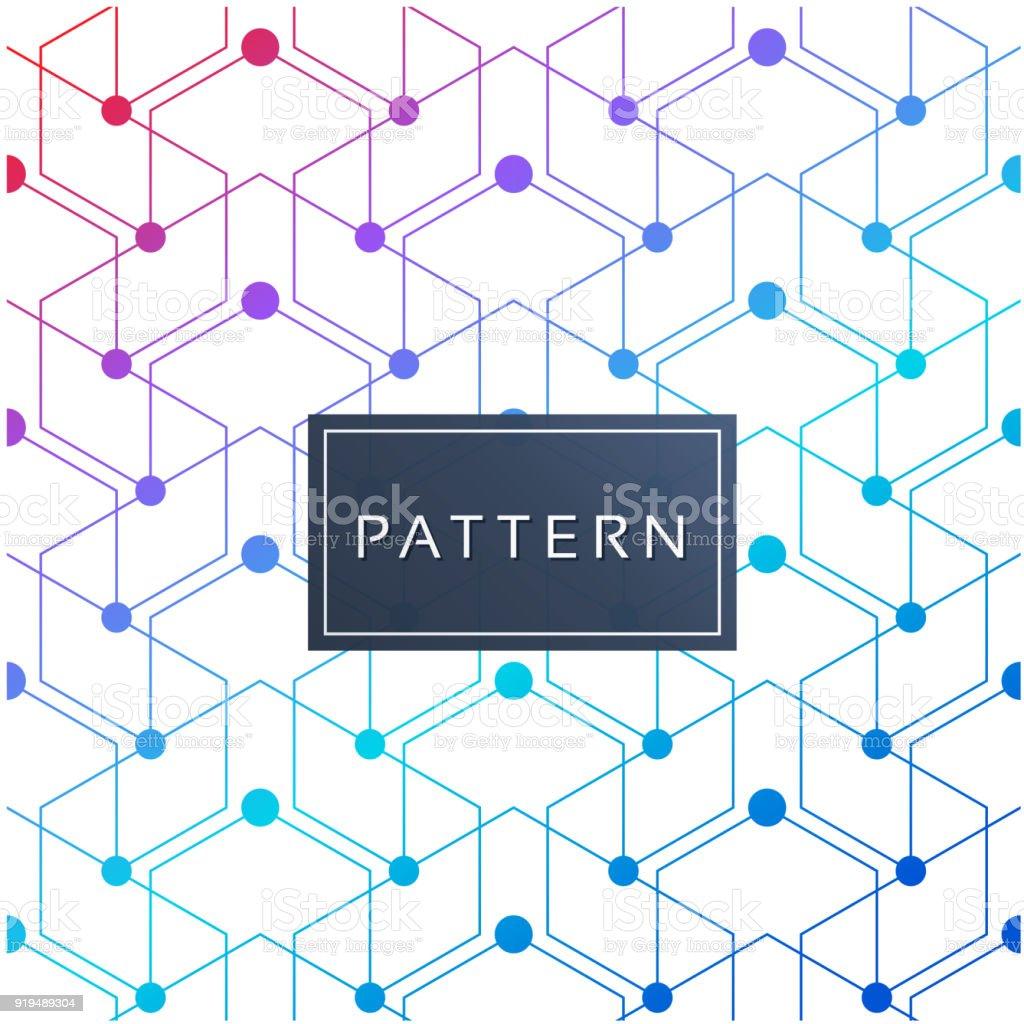 Honeycomb Modern Style Vector Image vector art illustration