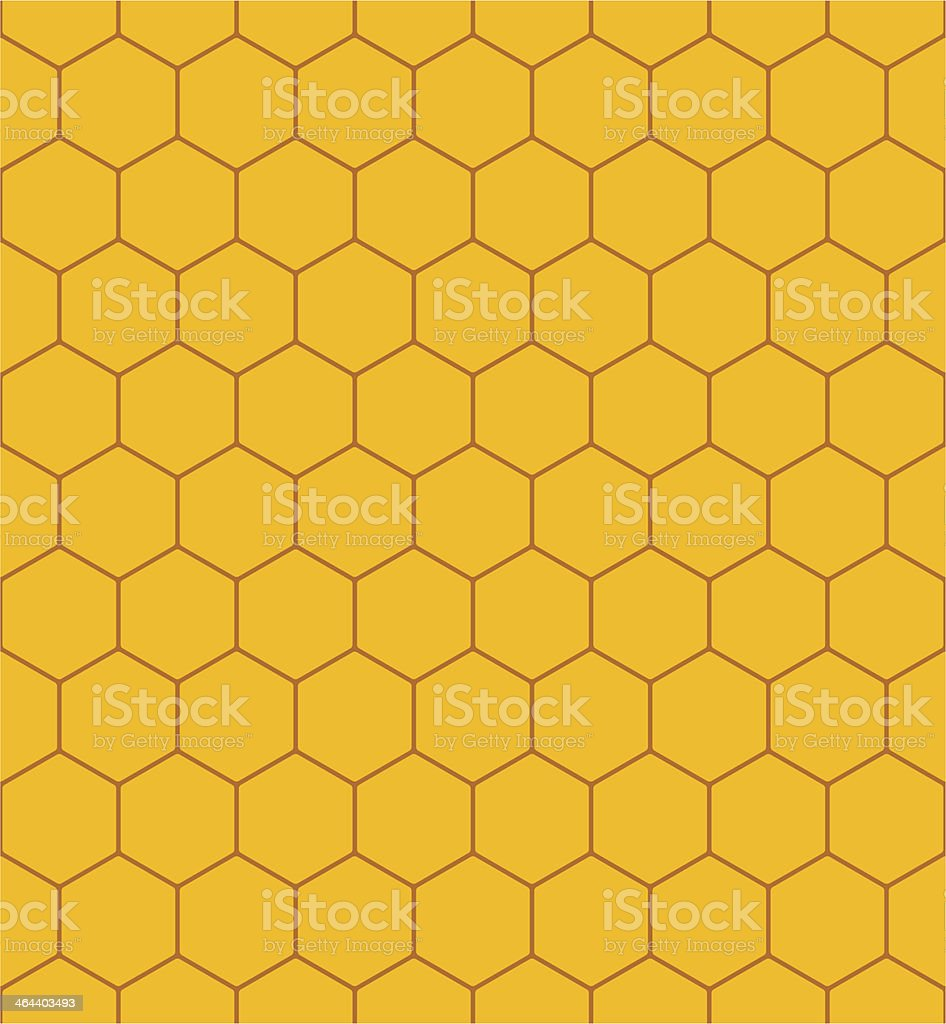 Honeycomb Pattern In Yellow And Brown Royalty Free Stock Vector Art