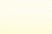 Honeycomb seamless background. Vector illustration.