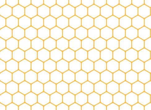 Honeycomb seamless background. Vector illustration.
