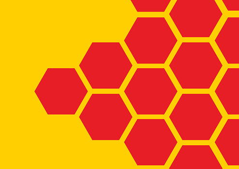 Honeycomb seamless pattern background