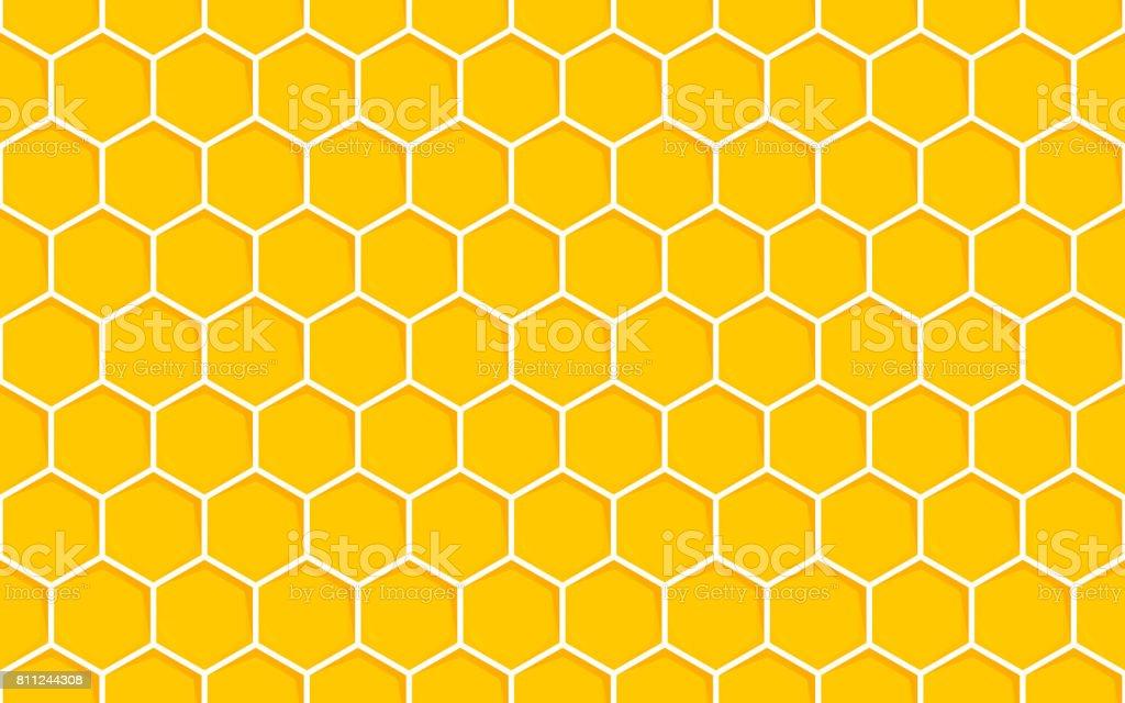 Honeycomb Seamless Pattern. Geometric Hexagons Background vector art illustration
