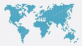 Honeycomb world map