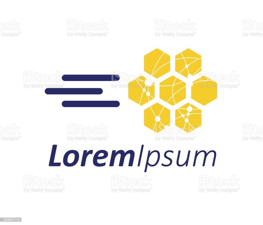Honeycomp avec technologie Concept Design - Illustration vectorielle