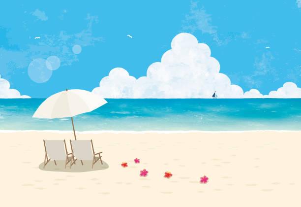 ハネムーンビーチ - 海点のイラスト素材/クリップアート素材/マンガ素材/アイコン素材