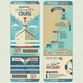 Honeymoon cruise boarding pass