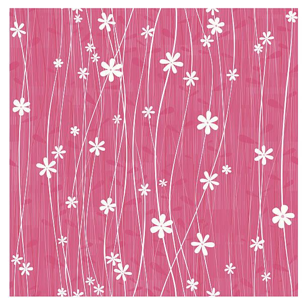 Honeysuckle flower seamless background vector art illustration