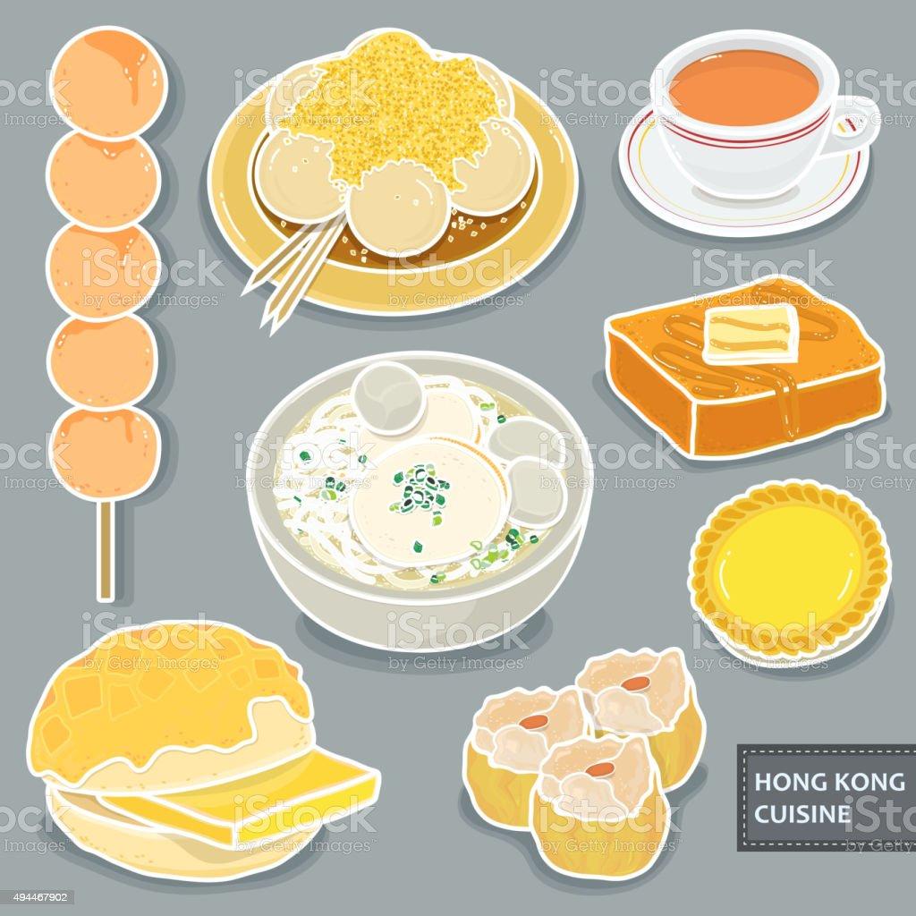 Hong Kong dessert vector art illustration
