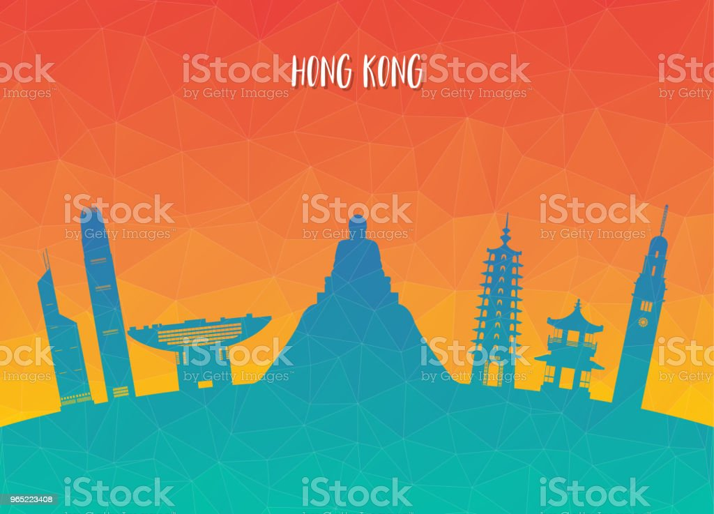 Hong kong Landmark Global Travel And Journey paper background. Vector Design Template.used for your advertisement, book, banner, template, travel business or presentation. hong kong landmark global travel and journey paper background vector design templateused for your advertisement book banner template travel business or presentation - stockowe grafiki wektorowe i więcej obrazów architektura royalty-free