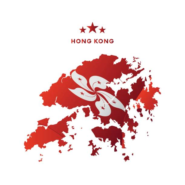 how to draw hong kong flag