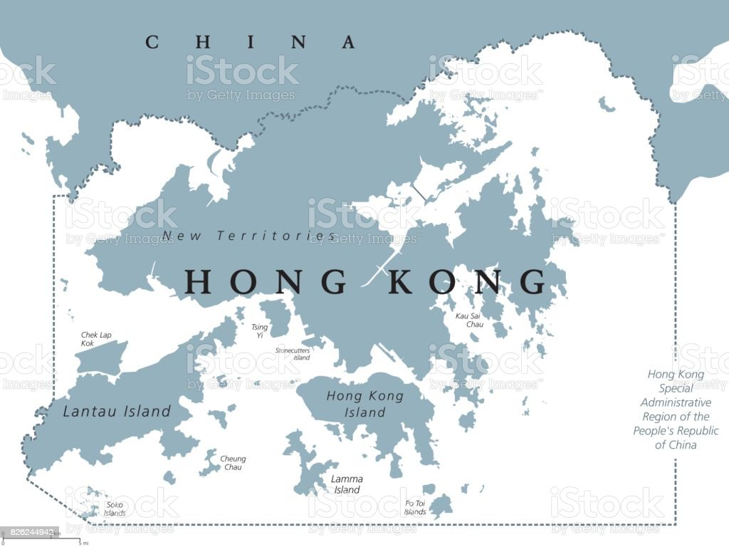Hong Kong Political Map Stock Vector Art & More Images of ...