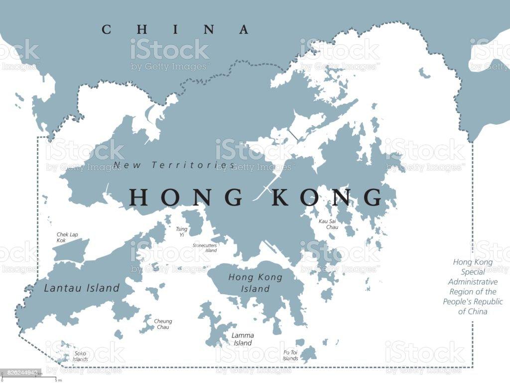 Hong kong political map stock vector art more images of hong kong political map royalty free hong kong political map stock vector art amp gumiabroncs Images