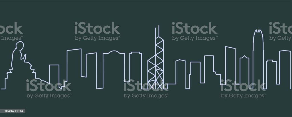 Hong Kong enkelrad Skyline - Royaltyfri Asien vektorgrafik