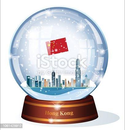 istock Hong Kong, Snow Globe 1061425912