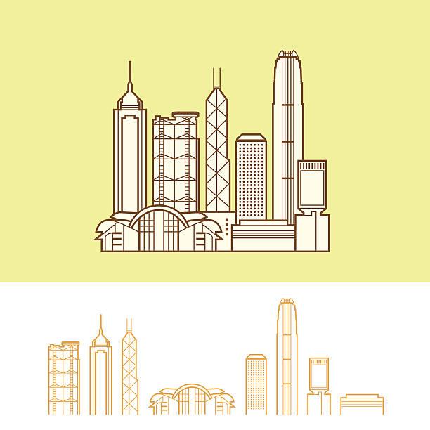 illustrazioni stock, clip art, cartoni animati e icone di tendenza di hong kong - hong kong