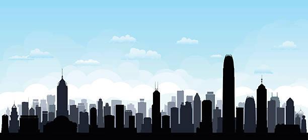 illustrazioni stock, clip art, cartoni animati e icone di tendenza di hong kong (ogni edificio è completa e mobili) - hong kong