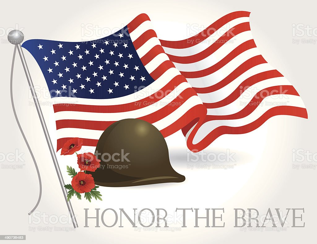 Honor Memorial Day vector art illustration
