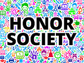 Honor Society School and Education Vector Icon Background