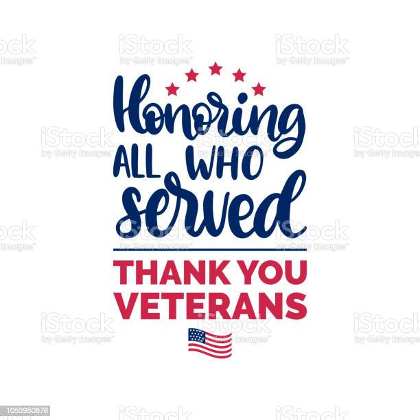 Honoring all who served hand lettering with usa flag illustration vector id1053950876?b=1&k=6&m=1053950876&s=612x612&h=nmgqnlz25euf1qsej 2dpey0k4dfipkrajzanhtkzyu=