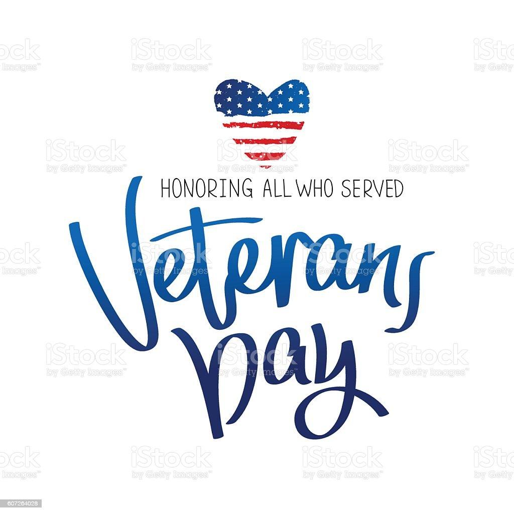 Honoring all who served vector art illustration