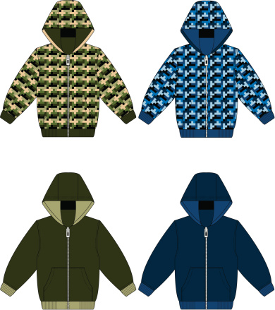 Hooded Top Camouflaged and Plain