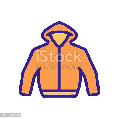 hoodie icon vector. Thin line sign. Isolated contour symbol illustration