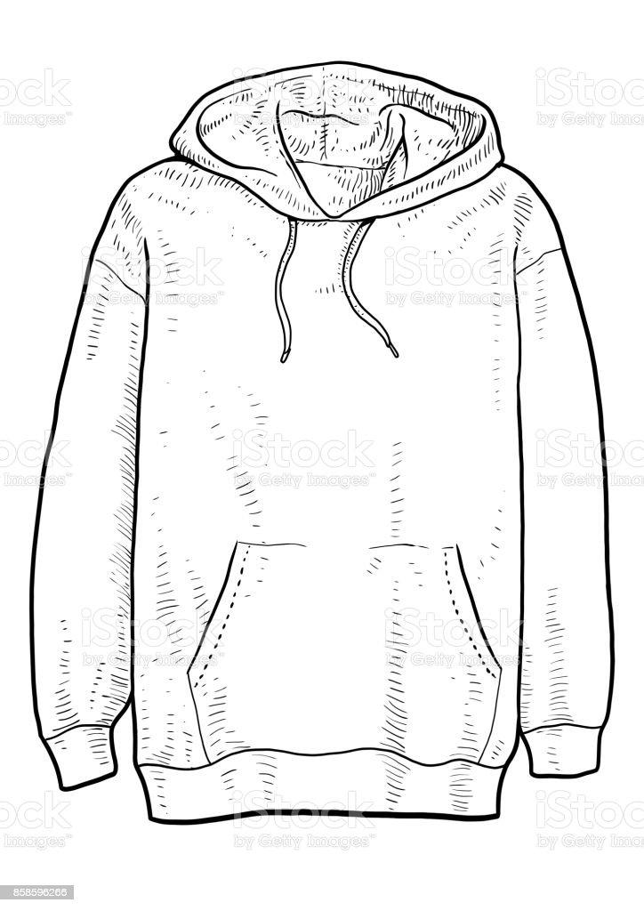Hoodie Illustration Dessin Gravure Encre