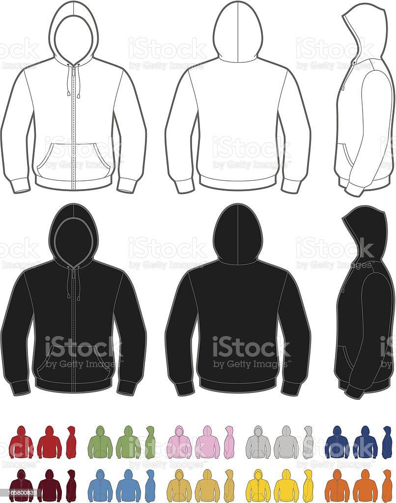 Hoodie royalty-free hoodie stock vector art & more images of adult