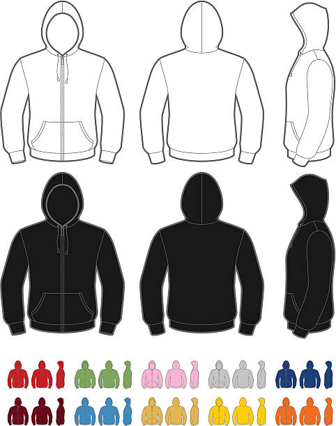 Hoodie vector art illustration