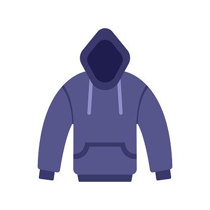 Hoody Flat Icon. Flat Design Vector Illustration