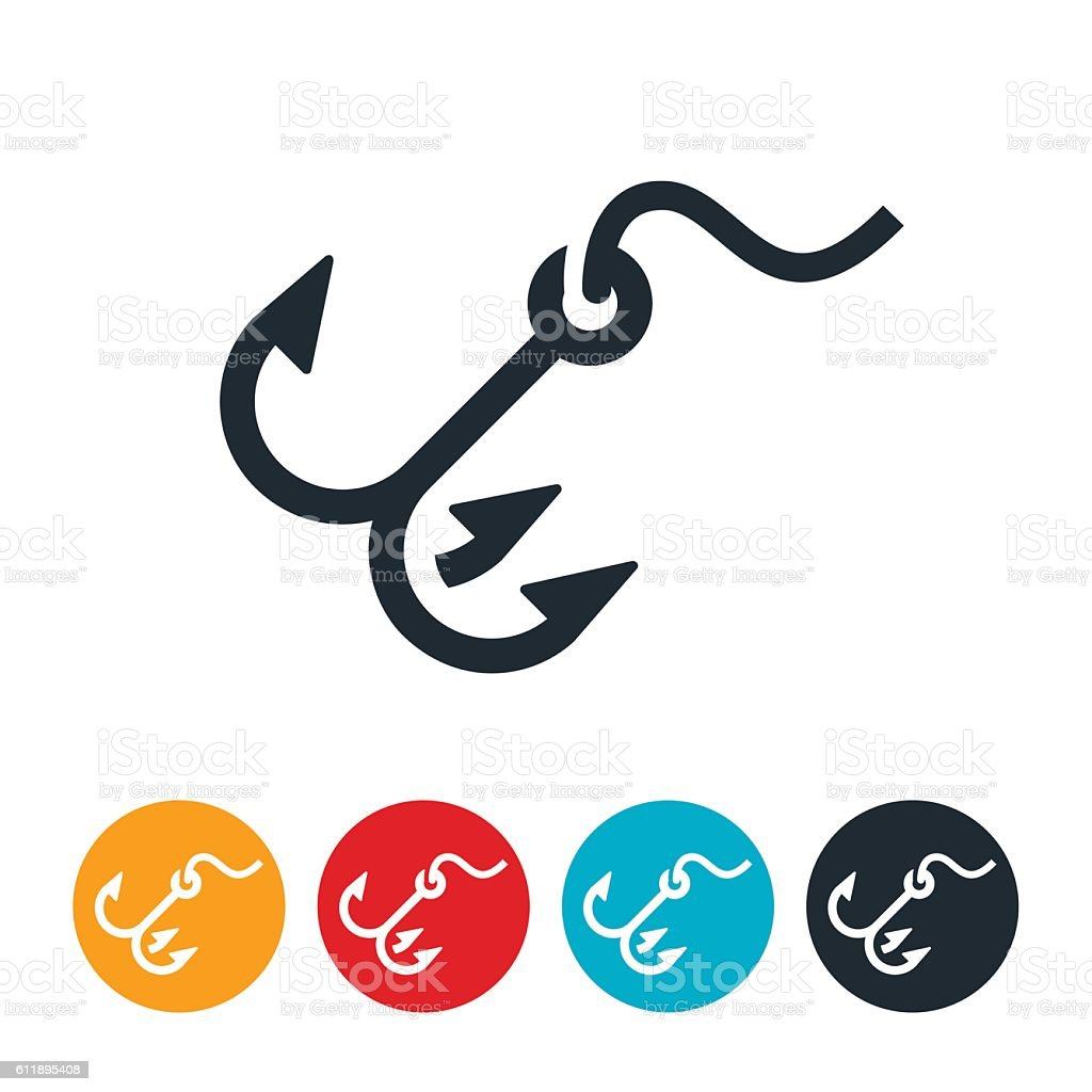 Hook Icon vector art illustration