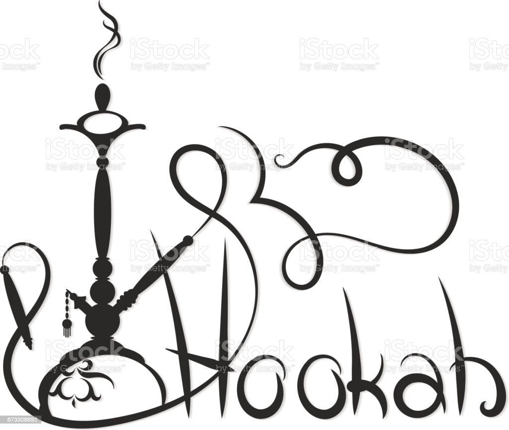 Hookah abstract silhouette royalty-free hookah abstract silhouette stock vector art & more images of bar - drink establishment