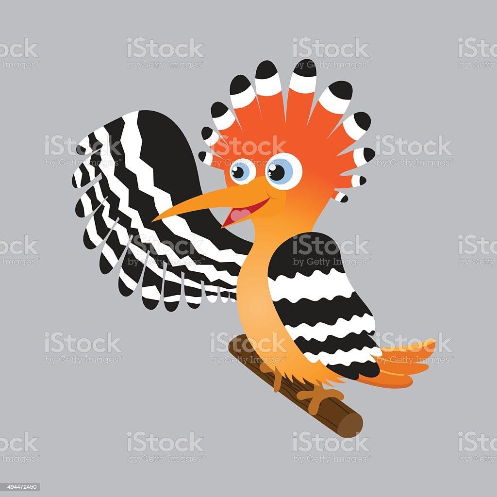 hoopoe cartoon vector stock vector art amp more images of