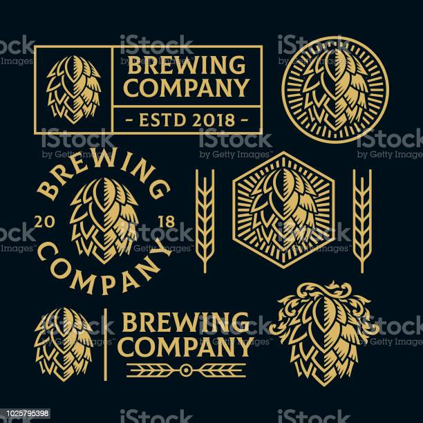 Koni Logo Setleri Hop Stok Vektör Sanatı & Bar - İçkili mekan'nin Daha Fazla Görseli