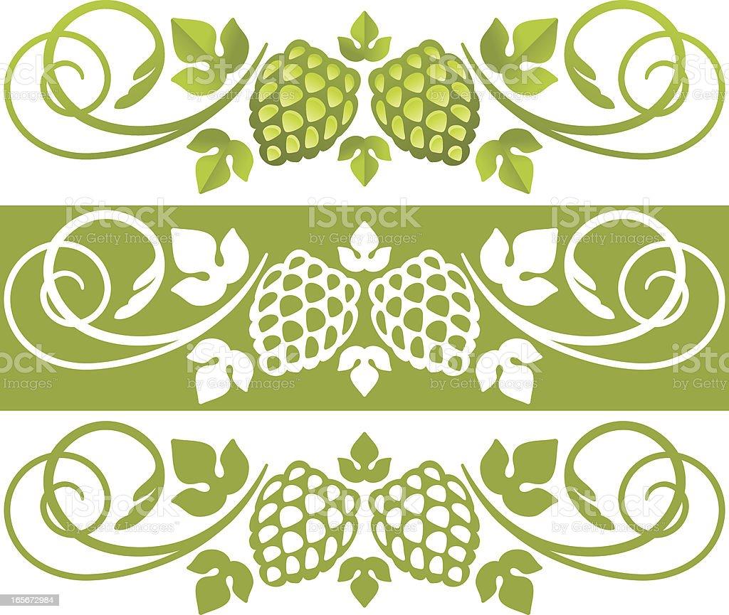 Hop plant design element royalty-free stock vector art