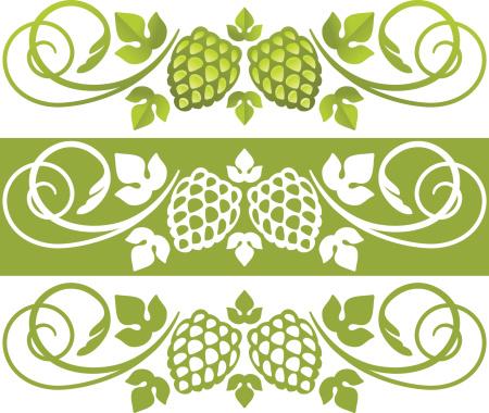 Hop plant design element