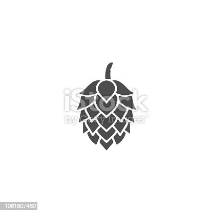 Hop silhouette vector template