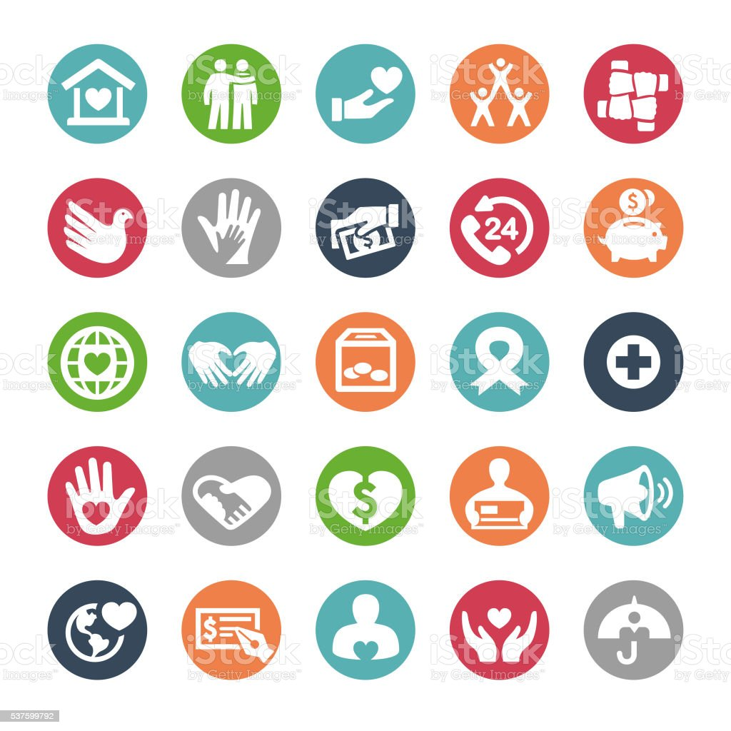 Hope and Care Icons - Bijou Series vector art illustration